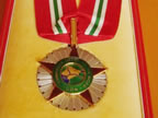 The medal of the Commander of the Order of the Niger to be awarded Gov. Akpabio on Nov. 14