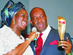 Akwa Ibom State Governor Godswill Akpabio on 25th February, 2012, became the ninth Sun Man of the Year. The ceremony was attended by dignitaries, including Akpabio's wife, Ekaette, Deputy Governor ...