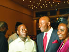 R-L Mrs. Oraoigu Okauru, Chairman FIRS, Gov. Akpabio, Gov. Oshiomole, and DG Governor's forum Mr. Okauru after the FIRS Chairman was presented the SUN PUBLIC SERVICE AWARD