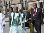 Governor Ibrahim Dakwambo , Vice President Namadi Sambo and Governor Akpabio at the Canadian State House, Ottawa yesterday