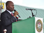 Newly inaugurated Governor of Akwa Ibom State, His Excellency Chief Godswill Akpabio, delightfully delivers a short inaugural address at Uyo Stadium where he thanked the people of Akwa Ibom State for reposing confidence in him again and spoke eloquently of unity, freedom, development, and progress of Akwa Ibom State and that he will do all to justify the confidence reposed in him.