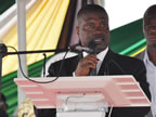 AKS Deputy Governor, His Excellecy Mr. Nsima Ekere, representing the Governor, delivers a speech after the conferment of degrees at UNIUYO convocation grounds during the 17th and 18th convocation ceremonies of the institution on Saturday 22nd October